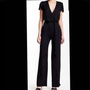 Diane Von Furstenberg Black Kacey Jumpsuit, Size 4